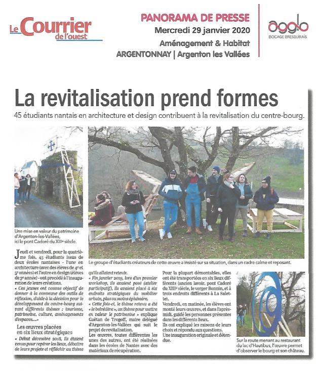 Module Micro-architectures centre-bourgs 2020 - Le Courrier de l'Ouest - 29/01/20