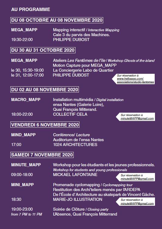 Festival Mapp Nantes - programme